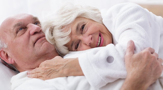 Image of elderly couple and good sex life